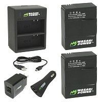 Комплект Wasabi Power Dual Charger 3/3+